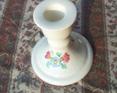 Vintage  candle holder white with flowers