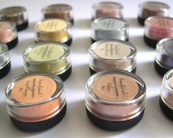 15% Off - PICK 10 - Eyeshadow Mineral Makeup - FULL 5g Pure Natural Vegan Eye Color