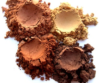 Mineral Eye Shadow // Mineral Makeup // Brown Eyeshadow // Eye Makeup // Eyeshadow Sets // Eyeshadow Quad // Eye Cosmetics