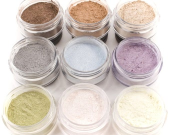 50% off Christmas in July | 9pc SUMMER Eyeshadow Mineral Makeup Collection Eye Color Set Natural Vegan Minerals