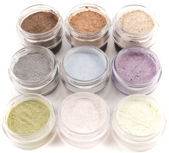 15% OFF - 9pc SUMMER Eyeshadow Mineral Makeup Collection Eye Color Set Natural Vegan Minerals