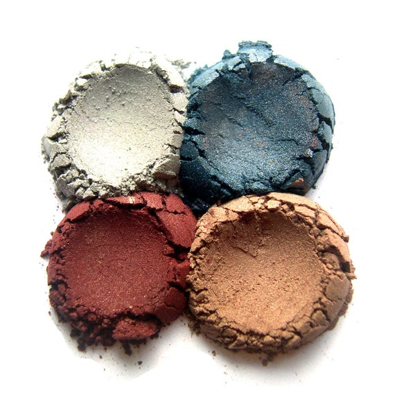 4pc WINTER Eyeshadow Collection Mineral Makeup Eye Color Set Natural Vegan Minerals