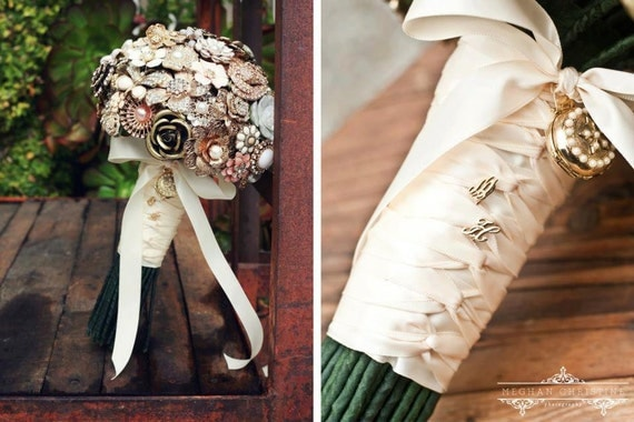 Custom Jewelry Brooch Bouquet - Deposit