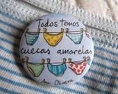 We all have yellow knickers Badge - Pin Todos temos cuecas amarelas