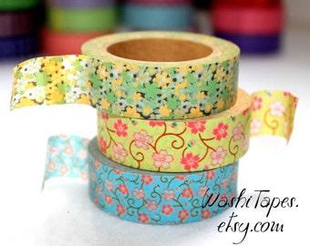 Washi Tape Set  - Japanese Washi Tape Set - 3 rolls - COMBO24