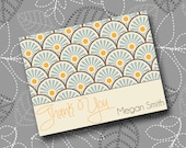 Teal & Tangerine Mod Thank You Note