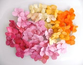 Fondant Hydrangea Petals Decoration 50 qty - ivory, pinks, magentas, orange for cupcakes, wedding cakes, birthday cakes, cupcake topper