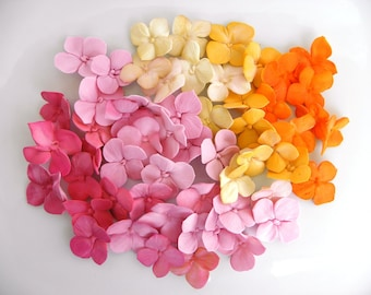 Fondant Hydrangea Petals Decoration 25 hydrangea singles qty - any color for cupcakes