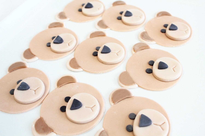 Koala Bear Cupcakes Fondant Teddy Bear Cupcake