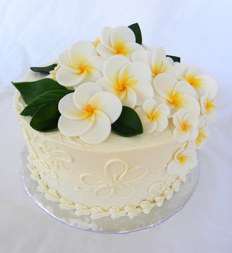 gumpaste flower wedding cake toppers gum paste wedding cake sugar flower cake topper plumeria 6 15024