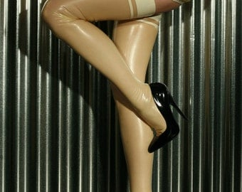 Latex Stockings - Contrast Band