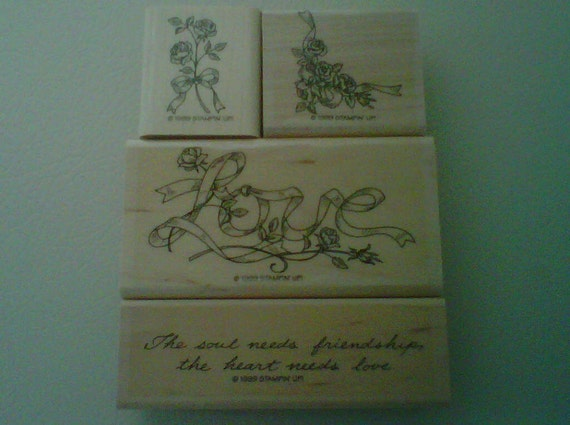 Stampin Up Ribbons and Roses Rubber Stamp set