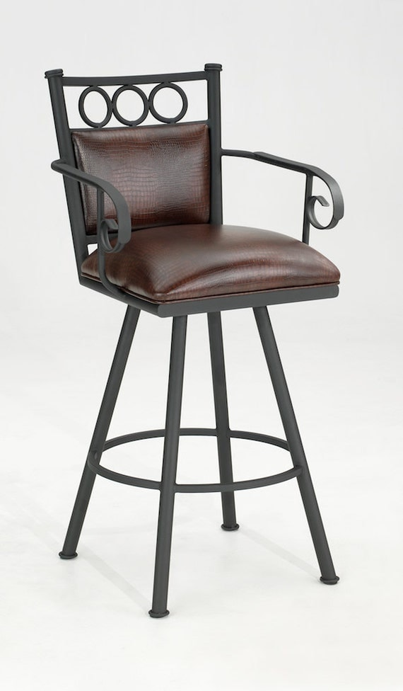 Items similar to Wendy Swivel Bar Stool with Arms  : il570xN345647990 from www.etsy.com size 570 x 976 jpeg 58kB
