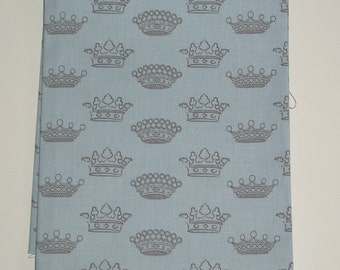 "Fat Quarter of Moda ""Blue Crowns"" from the Puttin' on the Ritz Collection by Bunny Hill designs"
