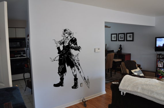 Final Fantasy 10 Inspired Tidus Wall Decal-Free US Shipping!!