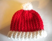 Baby knitted santa hat