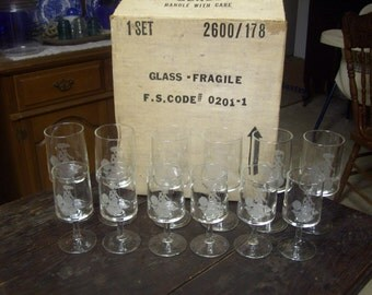 12 Crystal glass set