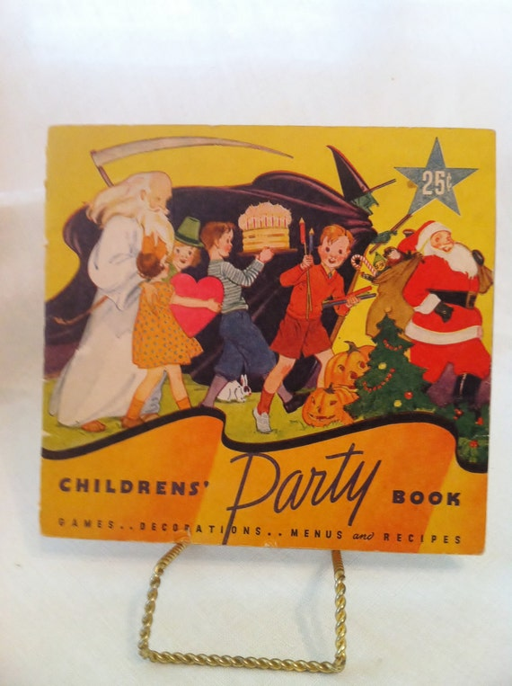 Vintage Children's Party Planning Book from the 1930s Holiday
