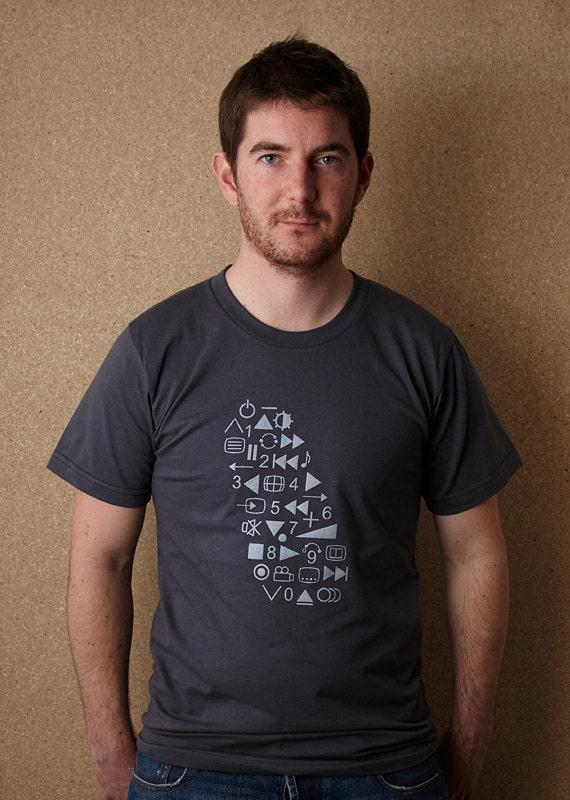 Control Freak T Shirt / Graphic T Shirt, Screenprint T Shirt, Mens Screenprinted Tee, Geek T Shirt, Funny T Shirt, Dark Grey Tee