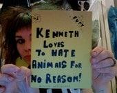 Kenneth Loves To Hate Animals For No Reason Issue 1 Alyssa Herlocher