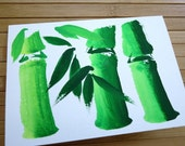 CARD BAMBOO MOTIF 8-1 by MadeByMonika Designs Original Acrylic Painting Greeting Card