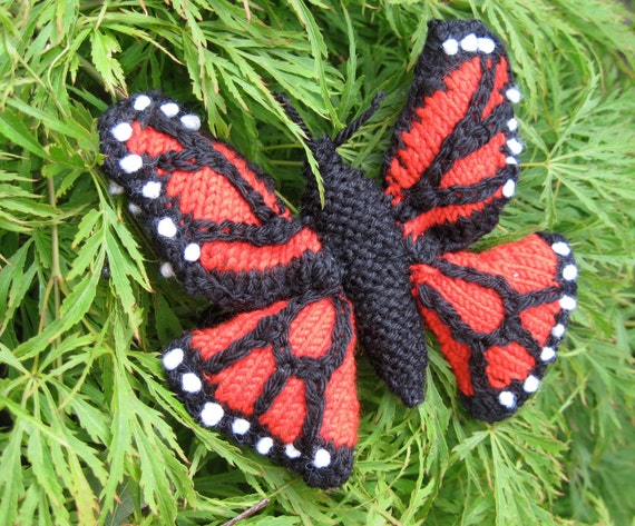 Monarch Butterfly Knitting Pattern