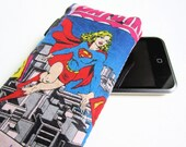 SPRING SALE-Supergirl-DC comics retro iPhone 4/ iPhone 5/ iPod soft cover pouch
