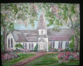 Christ Church in Bloom II -  Oil Painting