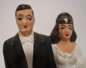 Vintage Wedding Cake Topper 1940s