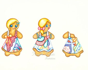"""Gingerbread Love 10.7"""" x 14.1"""" Limited Edition Giclee Print"""