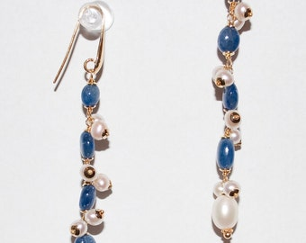 Precious Blue Sapphire Earrings with Sterling Silver