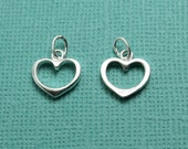 Medium sized Silver filled open heart charm, perfect accent to your necklaces or charm bracelets