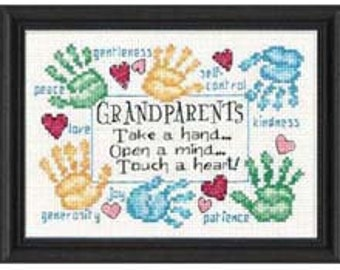 Cross Stitch Kit - Grandparents Touch a Heart