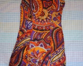 psychedelic 60s swimsuit xxs