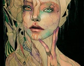 Rusalka - Nyx, water maiden special limited edition print by Jel Ena