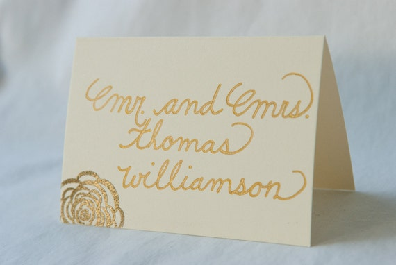 Custom Wedding Calligraphy & Heat Embossing for Place Cards, Escort Cards, or Seating Chart, Invitation Envelopes Also Available
