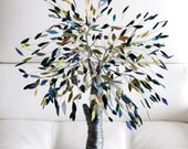 Big wired tree with fabric leaves