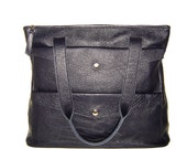 Ashford Double Pocket Leather Satchel and Tote with Reinforced Base AW01116
