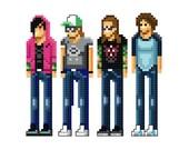 Fall Out Boy - cross-stitch pattern