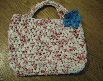 Recycled Bag Tote - Red, White and Blue