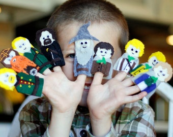 Lord of the Rings Finger Puppets Patterns