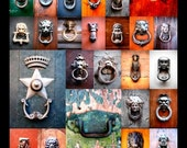 Porte Battenti d'Italia (Door Knockers of Italy) Collage Print (24x36)