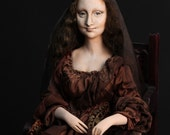 Doll Mona Lisa del Giocondo,  self fusing plastic Paperclay