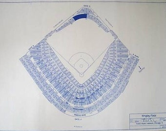 Wrigley Field Blueprint