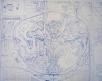 DisneyLand Blueprint Circa 1966