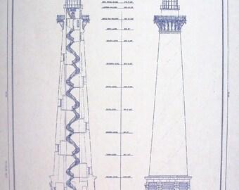 Cape Hatteras Lighthouse Blueprint