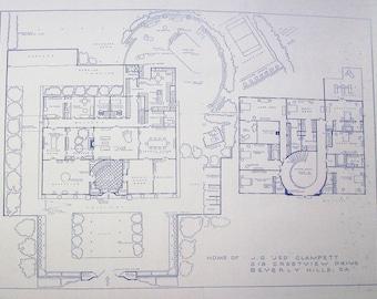 House From Beverly Hillbillies TV Show Blueprint