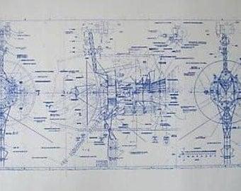 NASA Voyager Spacecraft Blueprint