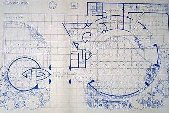 Frank Lloyd Wright Guggenheim Museum Blueprint By