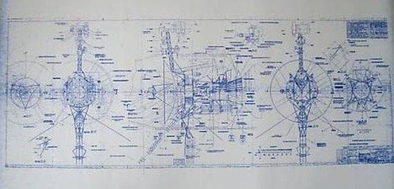 NASA Voyager Spacecraft Blueprint by BlueprintPlace on Etsy